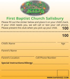 FBC children's security tag